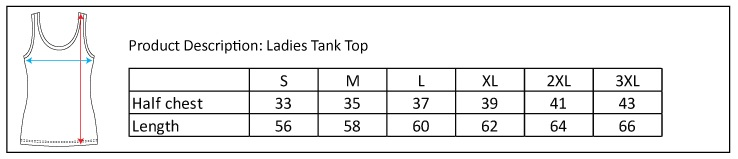 ladies tank size chart