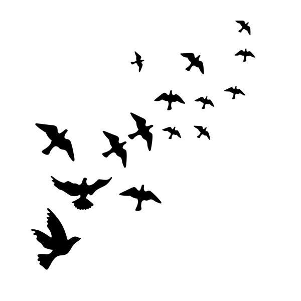 birds in flight wall art because i shop