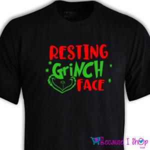 """Resting Grinch Face"" T-Shirt Range"