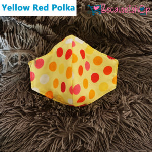 Yellow Red Polka- Face Mask